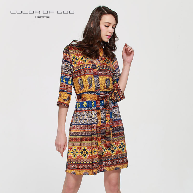 a43caf6b7c Accappatoio donna autunno seta stampa bohemien abito da notte donna casual  kimono camicia da notte mezza manica camicia da notte camicetta donna casa  wear