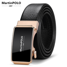 MartinPOLO Fashion Man Automatic Buckle Genuine Leather Belt First layer cowhide Belts for Men 3.5cm Width MP02001P