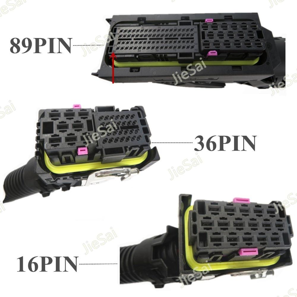 89Pin 36Pin 16Pin EDC7 Common Rail Connector PC Board ECU Socket Automotive Injector Module Plug With