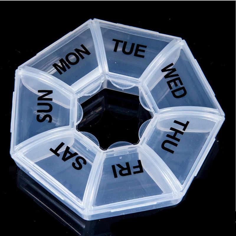 1PC 7-Warna Case Kotak Pil Obat Case Organizer Minggu Penyimpanan Pemegang Case untuk Obat Obat Pil Case 7 Hari 21 Slot