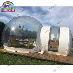 4m durchmesser aufblasbare transparent blase zelt, 0,9mm pvc Aufblasbare jurte zelt für camping