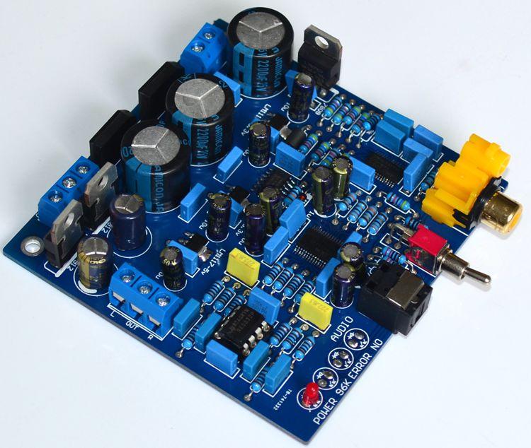 Ak4396+cs8416 Dac Digital Decoder 24bit 192khz Optical Fiber Coaxial Signal Input Stereo Audio Analog Output For Amplifier Pc Tv