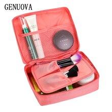 Portátil de alta calidad de las mujeres el bolso cosmético impermeable belleza caso organizador neceser Kits bolsas lave la bolsa viaje esencial