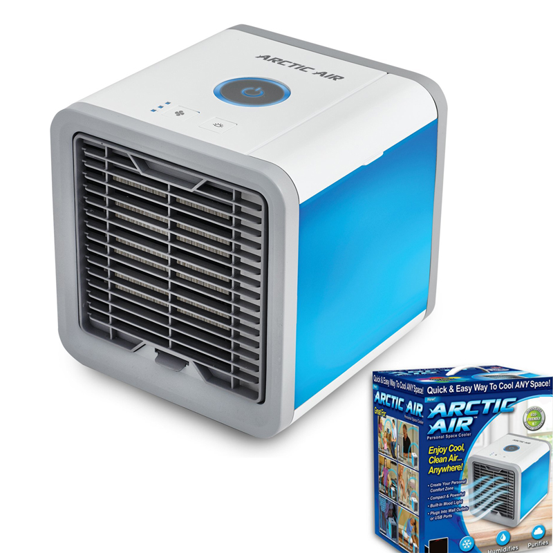 USB Artic Air Cooler Fan Personal Space Arctic Air Cooler Portable Desk Fan Mini Air Conditioner Device Cool Soothing Wind