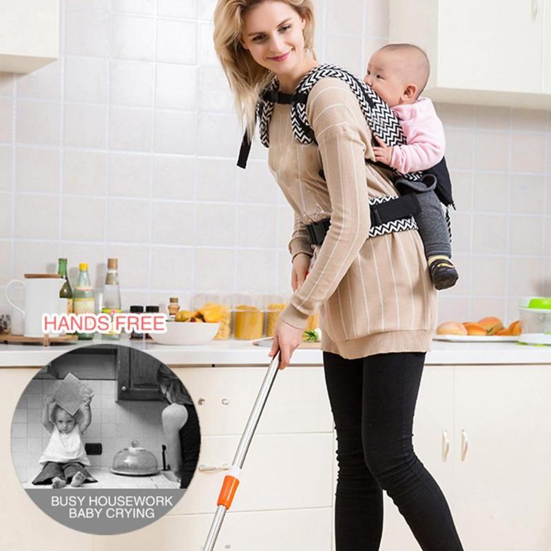 Pasgeboren Baby Carrier 5-36M Baby Ergonomische Voorkant Sling Rugzak Terug H-vorm gesp Kids Pouch wrap Carrier met Zak 4