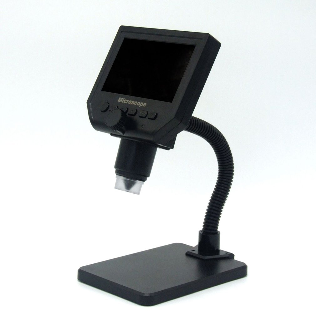 New G600 600X HD 3 6MP 8 LEDs Portable LCD Digital Microscope 4 3 Electronic HD