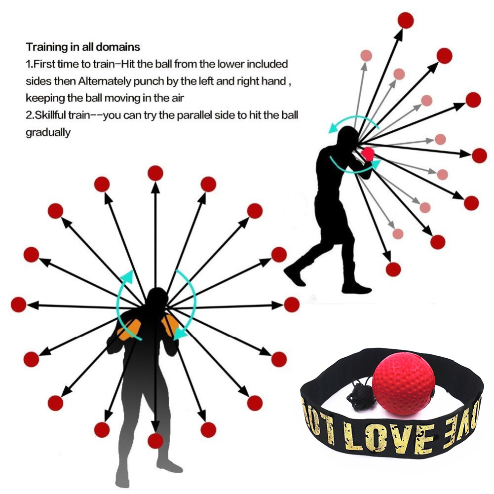 Exercise Boxing Equipment Punching Bag Boxing Accessories Reflex Ball  Reaction Boxing Punching Ball Lighter Softer 1 PC