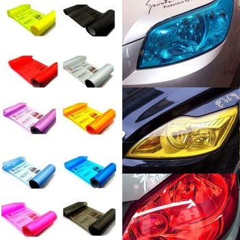 12*40'' Car Headlight Taillight Light Film Stickers For Fiat Abarth Mercedes W176 W204 W210 W203 E BMW E60 E36 E34 E90 F30 F10 image