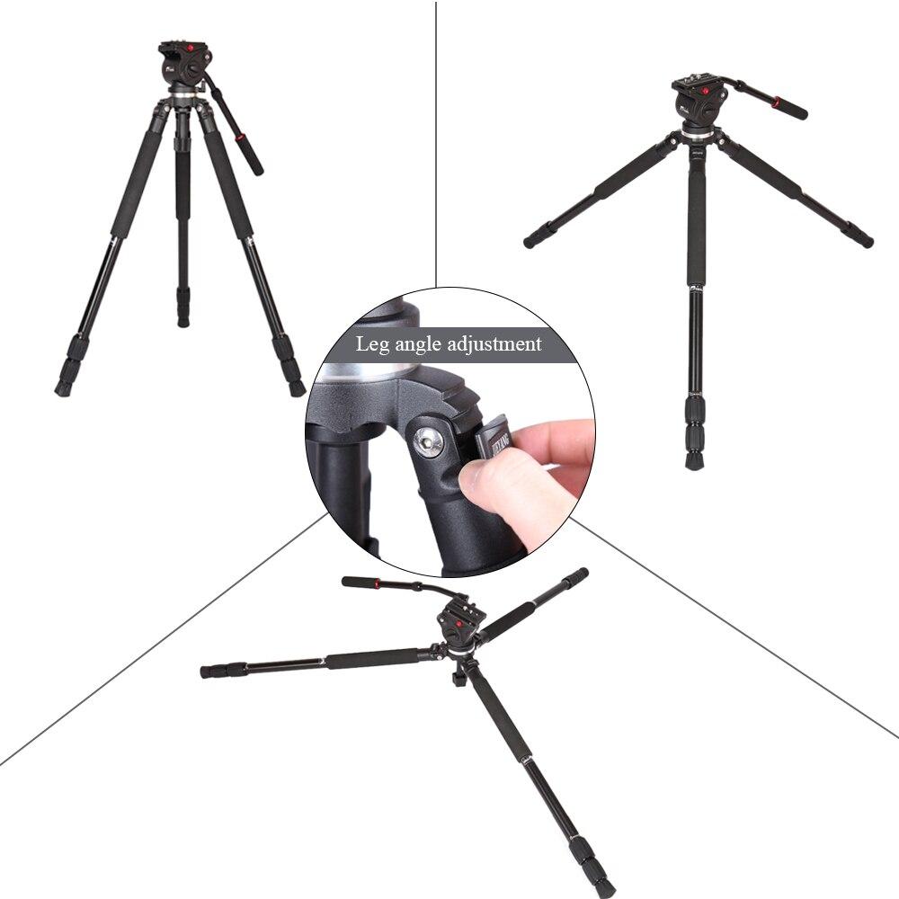 DHL Free JY0509A Professional Tripod Aluminum Alloy Camera Tripod with Fluid Drag Head DSLR Tripod for