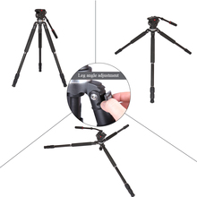 DHL Free JY0509A Professional Tripod Aluminum Alloy Camera Tripod with Fluid Drag Head DSLR Tripod for Camera Video Camcorder