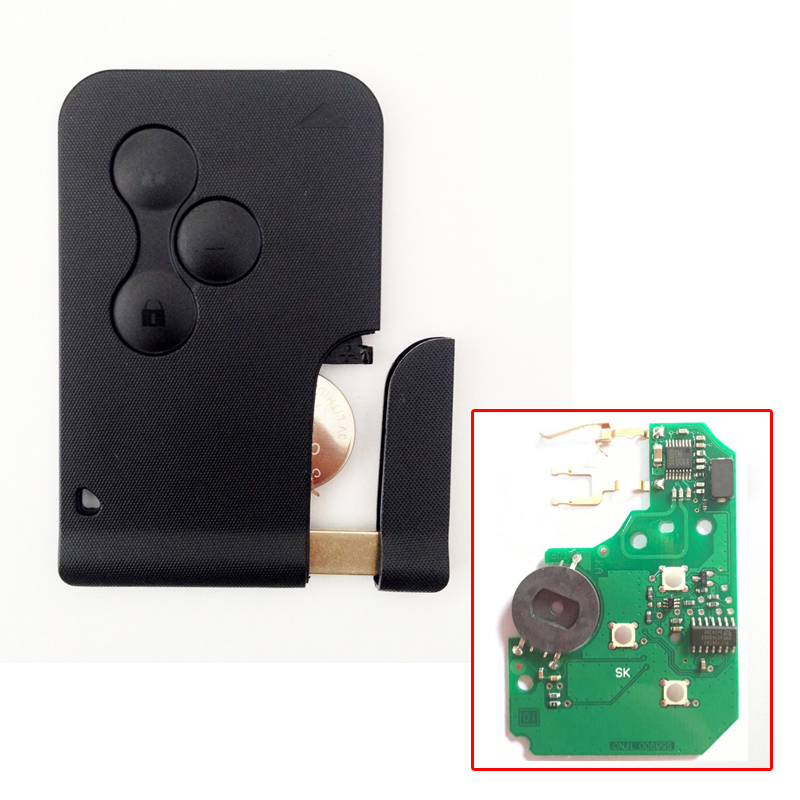 3 Buttons Smart Key Card For Renault Megane PCF7947 Chip 433MHZ