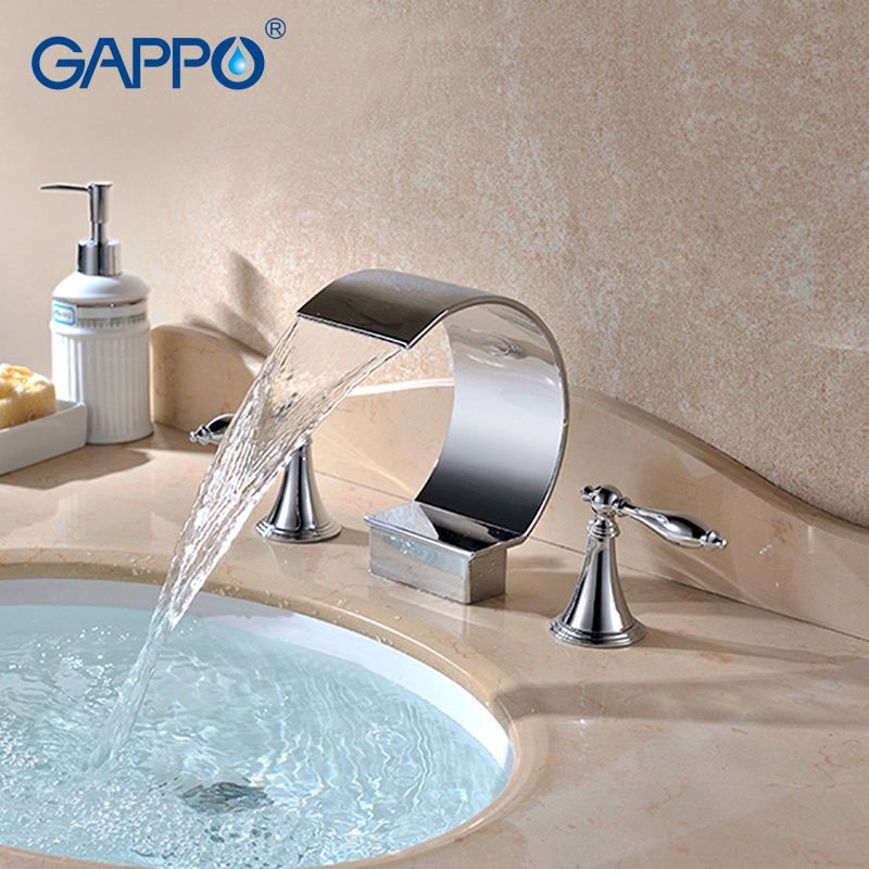 GAPPO Basin Faucet basin mixer tap waterfall bathroom shower faucets bathtub water mixer Deck Mounted Faucets taps gappo basin faucet basin tap waterfall bathroom mixer shower faucets bath water mixer deck mounted faucets taps