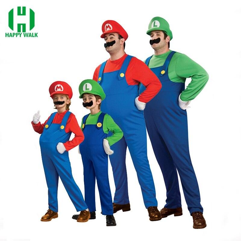 Divertido traje de cosplay Super Mario Luigi Brothers Disfraz Fancy - Disfraces