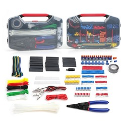 WORKPRO 582 PC Elektrische Tool Kit Crimp Terminals Draht Anschlüsse Schrumpf Schlauch Elektrische Reparatur Kit mit Draht Cutter Stripper