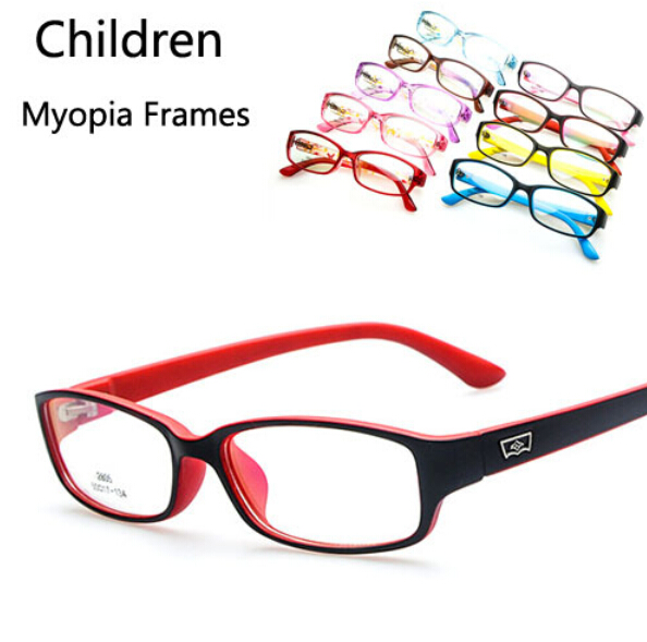 2017 new kids optical frames soft and light childrens glasses nearsighted myopia spectacle frame clear lens