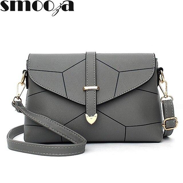 SMOOZA 2018 Fashion Ladies Messenger Bags Mini Handbag Female Envelope Bag  lines Shoulder Bags Flap Hand for Women Crossbody Bag