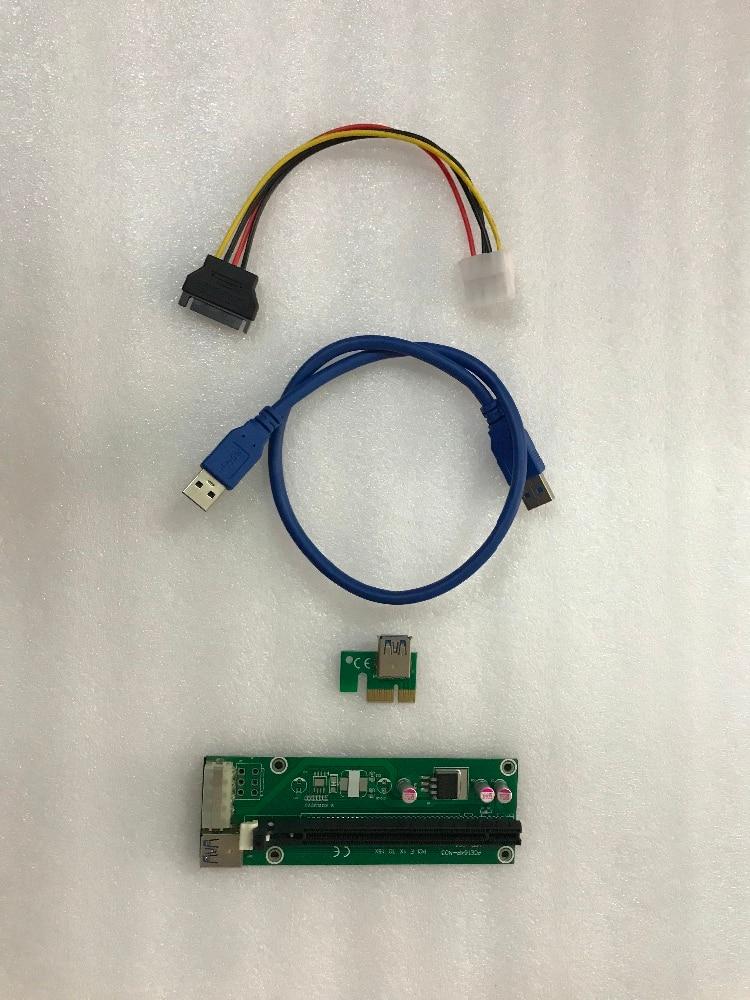 ETH ZCASH MINER podaljšek za kabelski podaljšek USB3.0 PCI-E 60 cm podaljšek za R9 380 RX 470 RX480 6 GPU CARDS