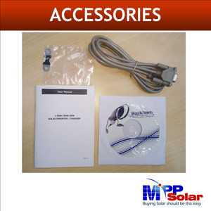 Image 5 - (GK) 3000w 24v 230vac high PV input 500vdc  + 80A MPPT solar charger + battery charger 60A + genset starter