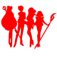Handsome Outer Animation Silhouette Figures Sailor Moon Car Sticker for Window Bumper Motorcycle Car Styling Vinyl