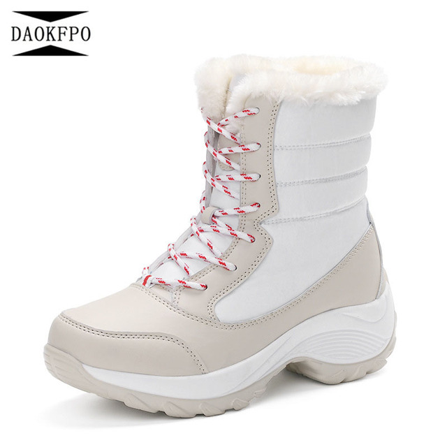 d603d9b93f1 US $20.7 29% OFF|Aliexpress.com : Buy DAOKFPO Women boots non slip  waterproof winter ankle snow boots women platform winter shoes with thick  fur botas ...