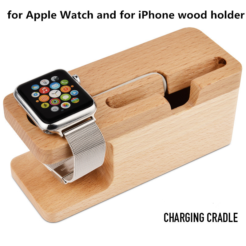 the latest 3d364 96326 US $21.39 |Luxury Wood Wooden Portable Office Desk Home Table Stand  SmartPhone Holder For iPhone 6S Plus 6 5C For Apple Watch 38&42mm-in Mobile  Phone ...