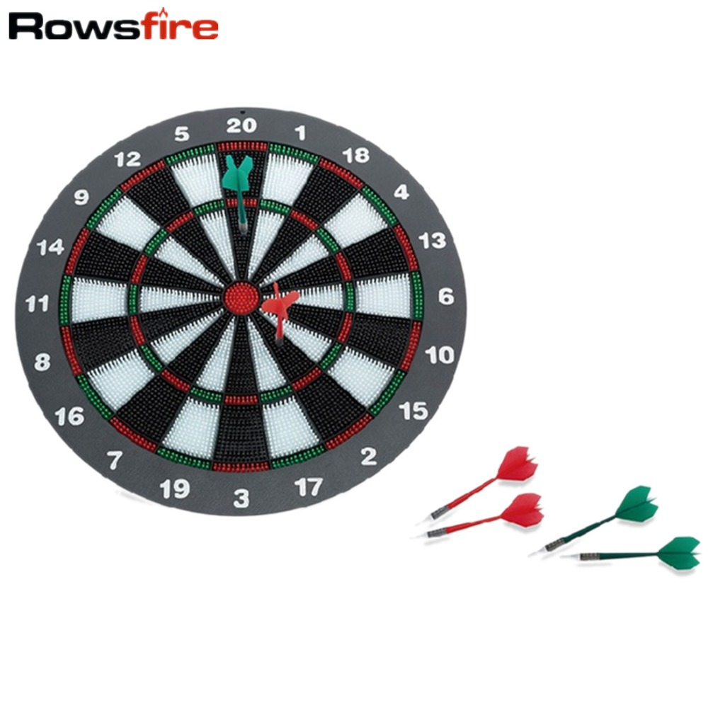 Rowsfir Dart Board 6 Darts Set Funny Play Dartboard Soft Head Darts Board Game Toy Fun Party Accessories Gambling New Year Gift 18 inch professional electronic dart board set with 6pcs darts soft tip dartboard for indoor game english voice scorer