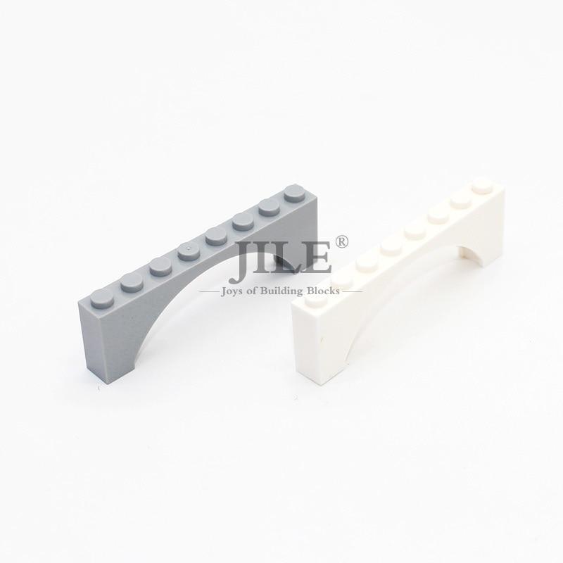 Lego 2 Classic Dark Gray 1x8x2 castle arch brick block