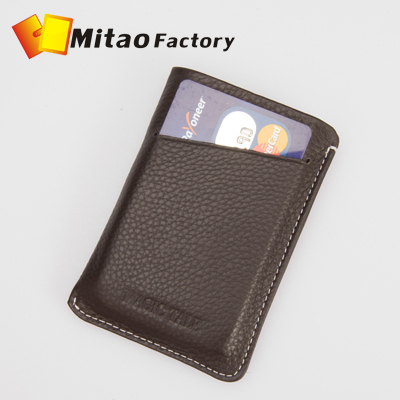 2016 Fashion New Men&Women's Card places Genuine Leather Card Holder Bank Credit Business Card Bag W/ Big Capacity,Gifts