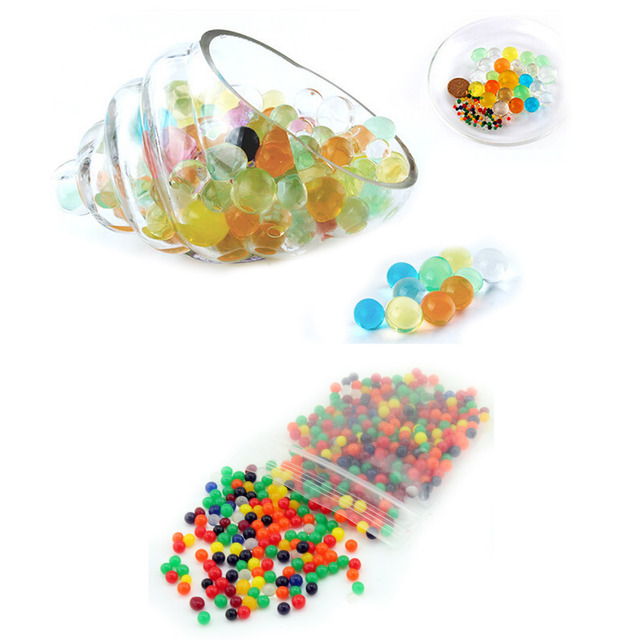 10g Colorful Magic Pearl Vase Filler Shaped Crystal Soil Water Beads