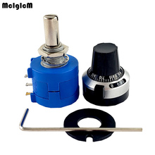 40 Sets 3590S 2 3590S Series potenciómetro multivuelta de precisión 10 anillos Resistor ajustable + giros Dial de conteo 6,35mm perilla