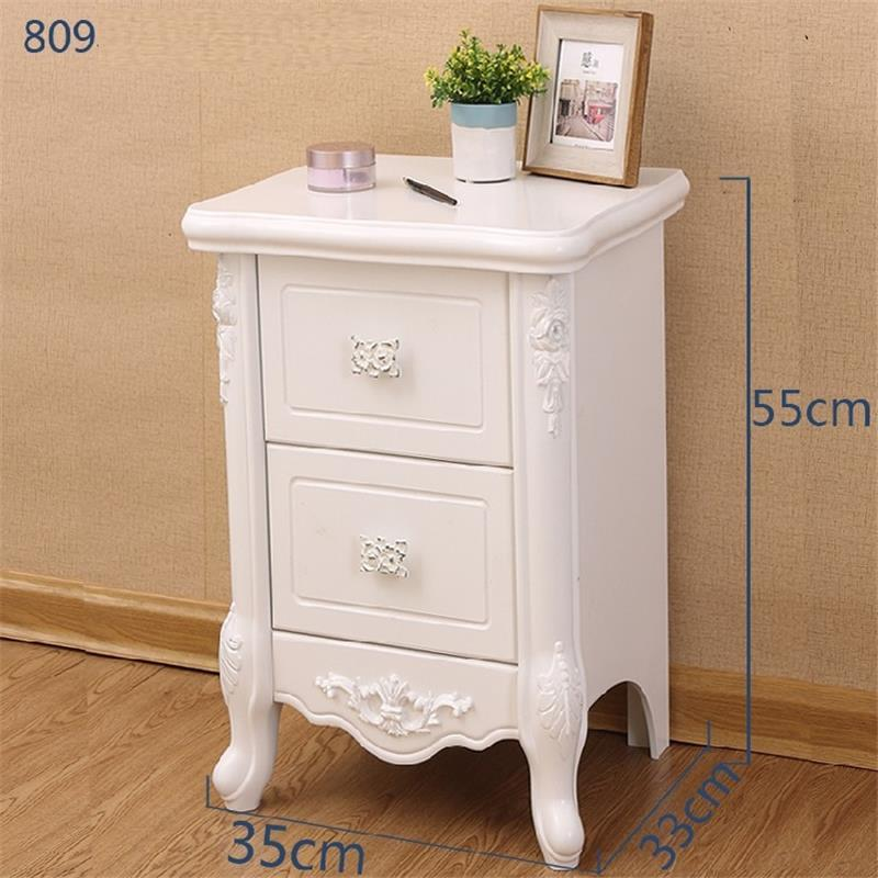 Noche Para El Drawer Mesa Auxiliar Night Stand European Wood Cabinet Quarto Bedroom Furniture Mueble De Dormitorio Bedside Table