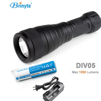 Brinyte DIV05 LED Diving Light CREE XML2 1000lm LED Scuba Diving Torch Diving Flashlight 200M Underwater Lamp + battery +charger