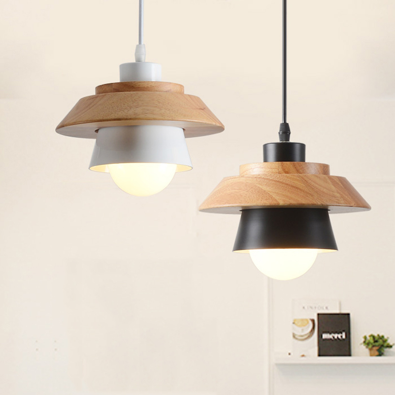 1 piece Nordic minimalist modern dining room restaurant cafe pendant lamp droplight wood meal hanging bar study office wood lamp restaurant cafe meal of lamps and lanterns hanging lamp is acted the role of single head 3 lemon meal hanging lamp