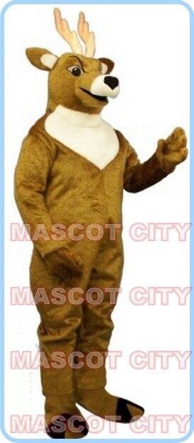mascot tan Elk Deer Mascot Costume cartoon Christmas reindeer theme anime mascot costume holiday carnival fancy dress 2687