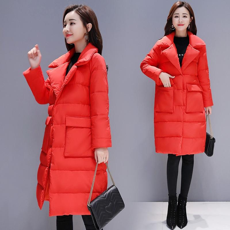 blanc À Longues Qualité Office grayblue rouge Lady Slim Nouvelle Coton Femelle Noir Élégant Version De Mode Coréenne Parka Femmes Haut Veste Manches Manteau qCTw41FZ