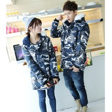 New Autumn Winter Fashion Big Size 3XL Camouflage Men Women Couples Thick Long Camouflage Jacket Coldproof Male Female Warm Coat