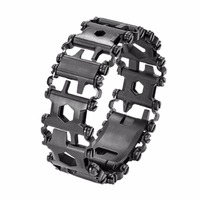 29 IN 1 Stainless Steel Multi Tool Bracelets Camping Hiking Multi Function Bracelet Black Screwdriver Outdoor