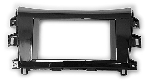 2 Din Car Radio Stereo Fascia Panel Frame DVD Dash Installation Kit for NISSAN NP300, Navara 2014+ (Piano black) with 173*98MM