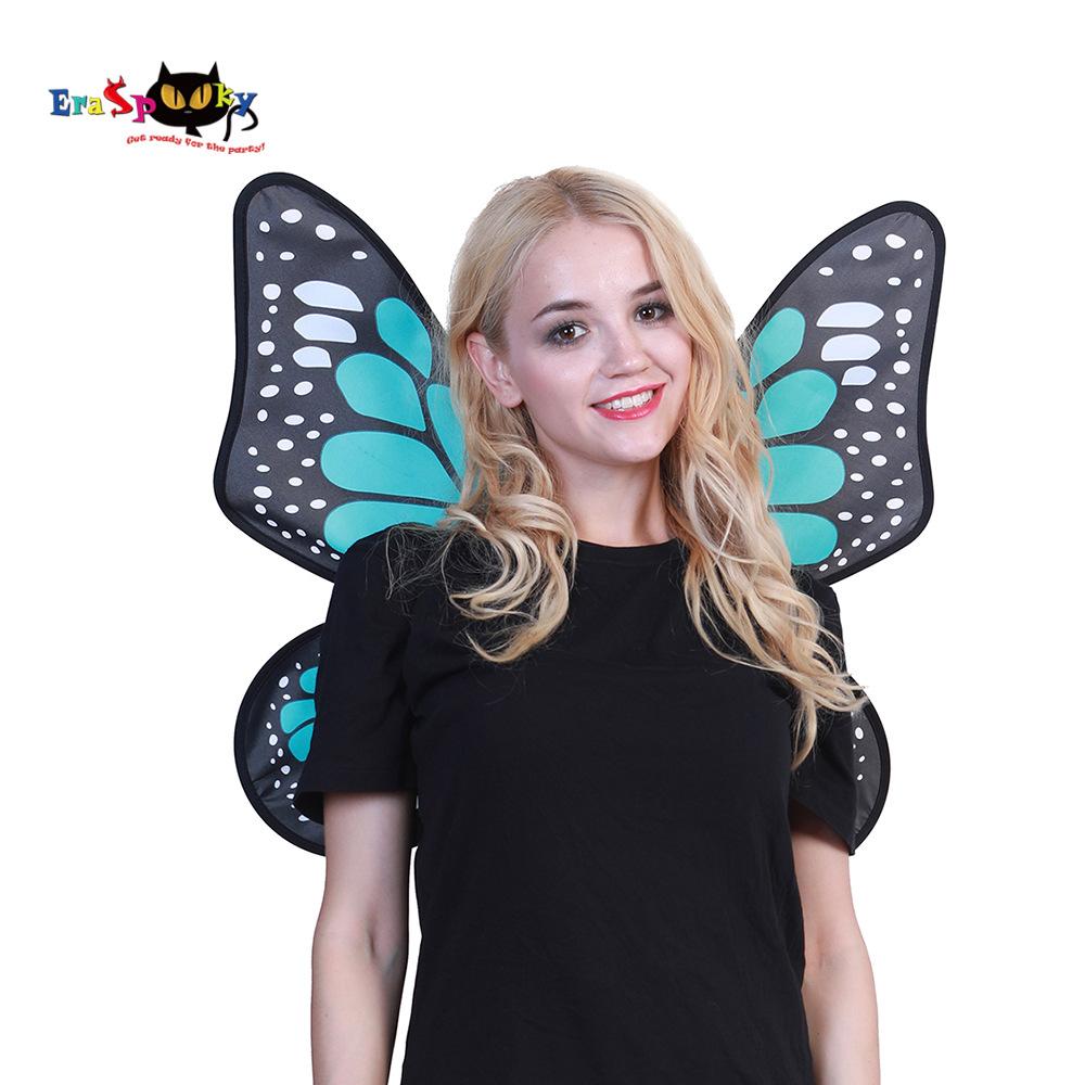 Eraspooky Halloween Accessories For Women Costume Cheap Blue Butterfly Wings For Christmas Cosplay Party Wear
