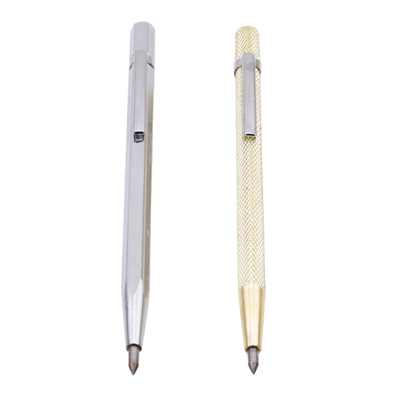 1PC Alloy Scriber Pen Glass Marking Engraving Tools Metal Shell Lettering Glass Tiles Stone Tile Marking Pen Hand Tools 602058 marking tools