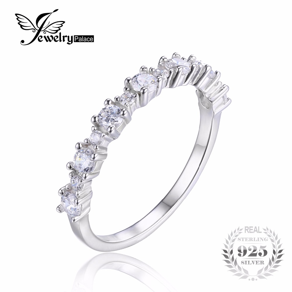 promotion tungsten wedding bands promotion law enforcement wedding bands JewelryPalace Sterling Silver Cubic Zirconia Band Ring Romantic Flower Shape Brand New Fine Jewelry For Women Ring Gift