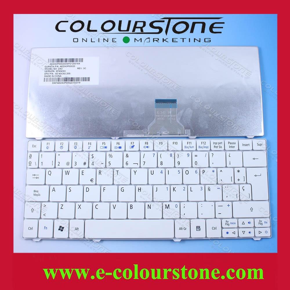 Brand New SP Laptop Keyboard For Acer One 751 751H ZA3 1410 1810T 1830T ZA5 9Z.N3C82.20S laptop keyboard for acer silver without frame bulgaria bu v 121646ck2 bg aezqs100110