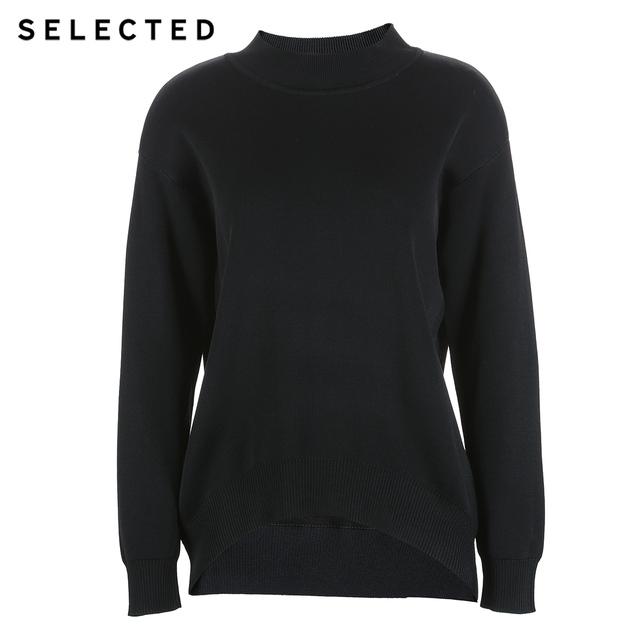 SELECTED Slade black winter female loose leisure long sleeved sweater sweater S|417425543