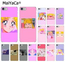 MaiYaCa Sailor Moon Cute Pink TPU Soft Phone Accessories Cell Phone Case for Apple iPhone 8 7 6 6S Plus X XS MAX 5 5S SE XR