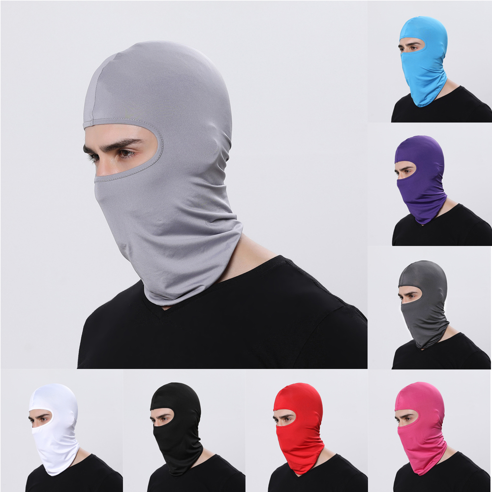 Full Face Mask lycra Balaclava Ultra-thin Motorcycle Cycling Ski UV Protecting