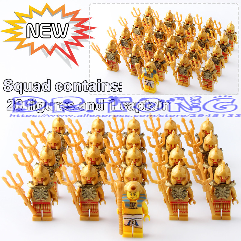 DR.TONG Middle Ancient Egyptian Roman Soldiers Pharaoh Atlantis Mummy Viking Egyptian Aztec Warrior Building Blocks Bricks Toys ancient knight 28pcs set soldiers and horses medieval model toy soldiers figures