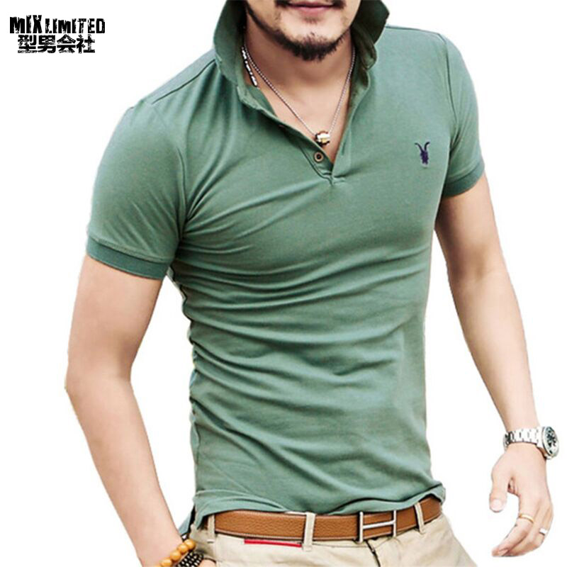 All size casual polo shirt men solid polo shirt brands men for Branded polo t shirts