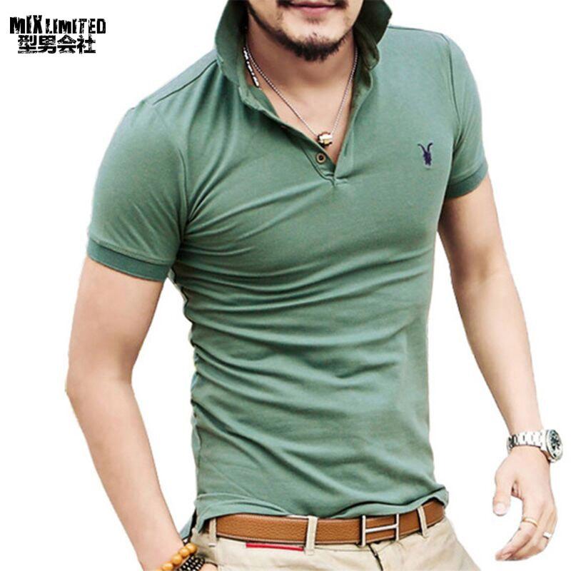 ALL size Casual polo shirt Men Solid polo shirt brands men British polo shirts sheep head cotton Short sleeve men