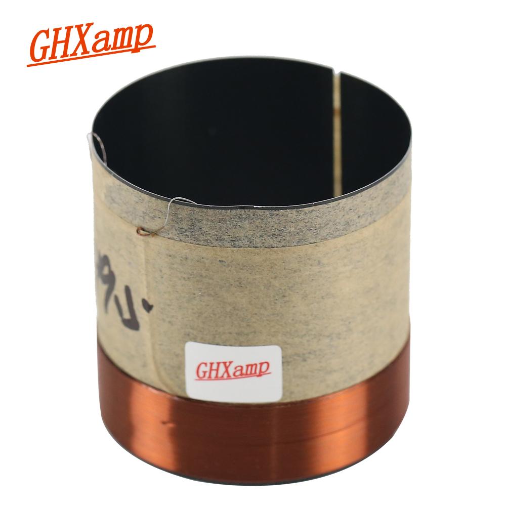 Ghxamp 49.5 Core 8OHM Bass Voice Coil Round Copper Two Layers Aluminum For 8