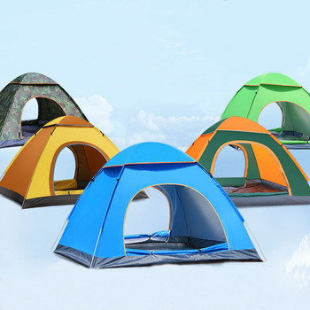 Outdoor Waterproof Hiking Camping Tent Anti-UV Portable Tourist Tent Ultralight Folding Tent Pop Up Automatic Open Sun Shade automatic instant pop up beach tent lightweight outdoor uv protection camping fishing tent cabana sun shelter